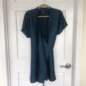 AYR Blue Fir Wrap Dress Size XS